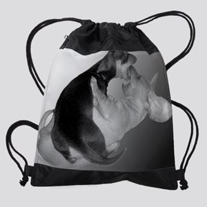 Yin Yang dachshund Dog 10x8 Drawstring Bag
