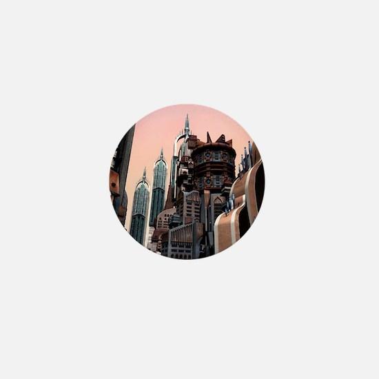 Futuristic City Mini Button