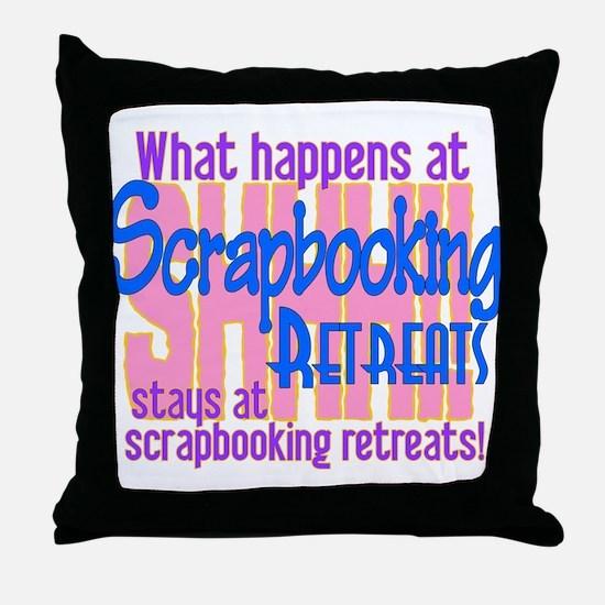 Cute Scrapbooker Throw Pillow