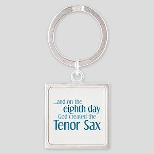Tenor Sax Creation Square Keychain