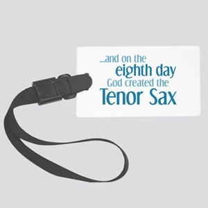 Tenor Sax Creation Large Luggage Tag