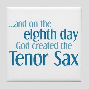 Tenor Sax Creation Tile Coaster