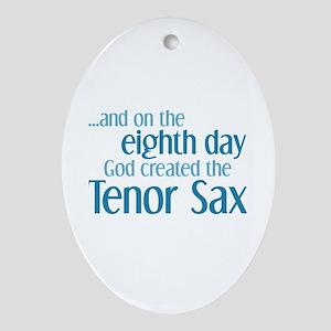 Tenor Sax Creation Ornament (Oval)