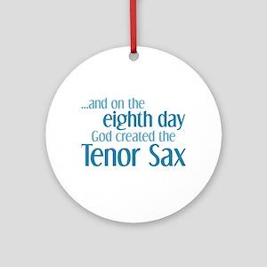 Tenor Sax Creation Ornament (Round)