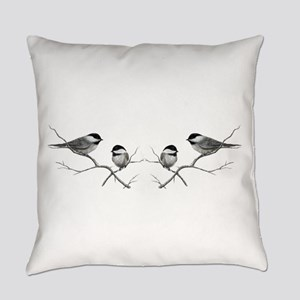 chickadee song bird Everyday Pillow