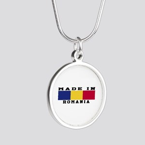 Romania Made In Silver Round Necklace