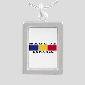 Romania Made In Silver Portrait Necklace