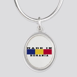 Romania Made In Silver Oval Necklace