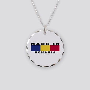 Romania Made In Necklace Circle Charm