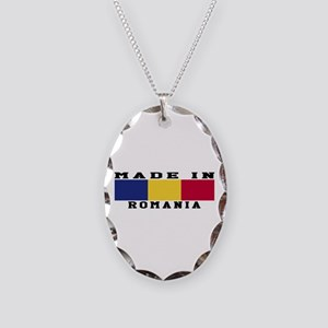 Romania Made In Necklace Oval Charm