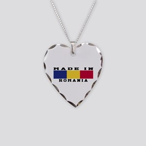 Romania Made In Necklace Heart Charm