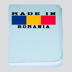 Romania Made In baby blanket