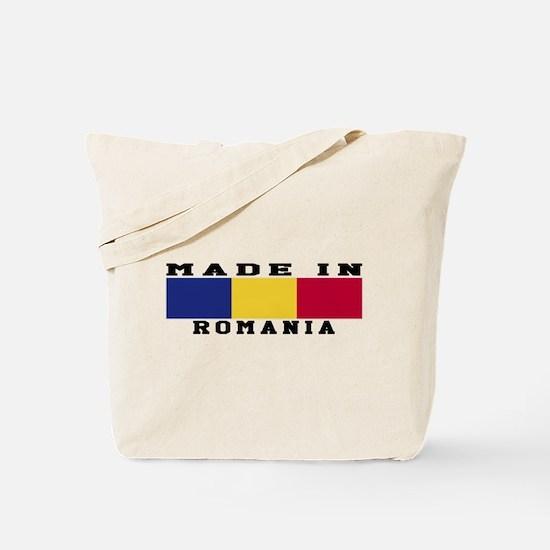 Romania Made In Tote Bag