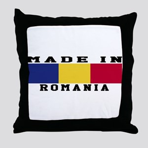 Romania Made In Throw Pillow