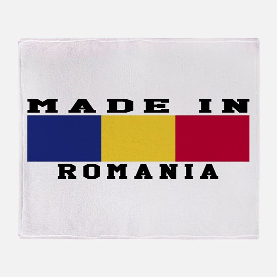 Romania Made In Throw Blanket