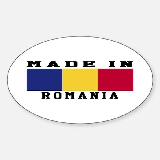 Romania Made In Sticker (Oval)