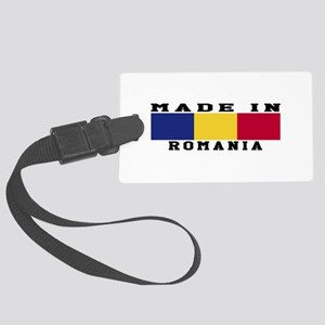Romania Made In Large Luggage Tag