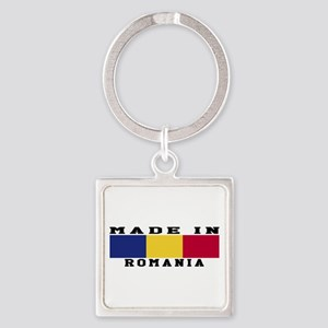 Romania Made In Square Keychain