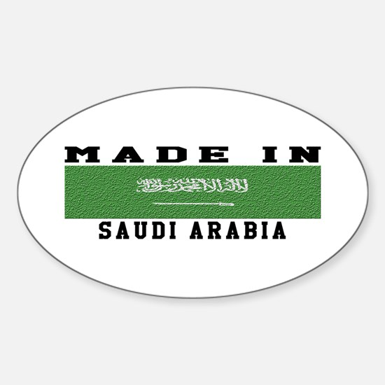 Saudi Arabia Made In Sticker (Oval)