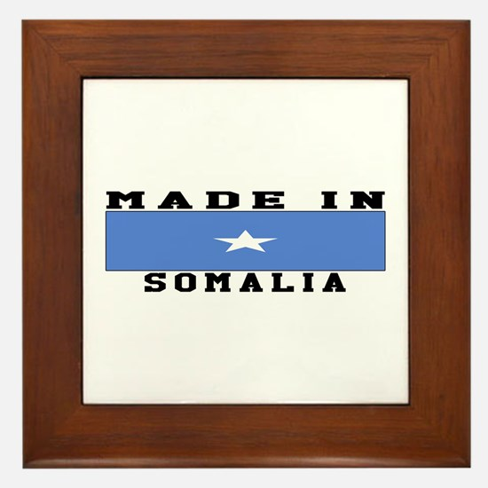Somalia Made In Framed Tile