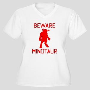 Beware Minotaur (red) Plus Size T-Shirt