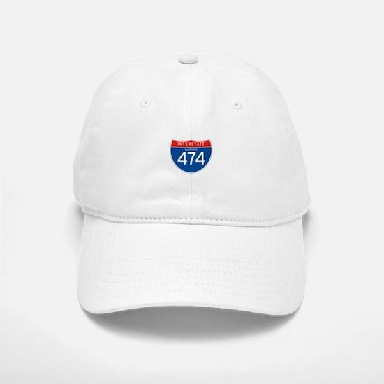 Interstate 474 - IL Baseball Baseball Cap