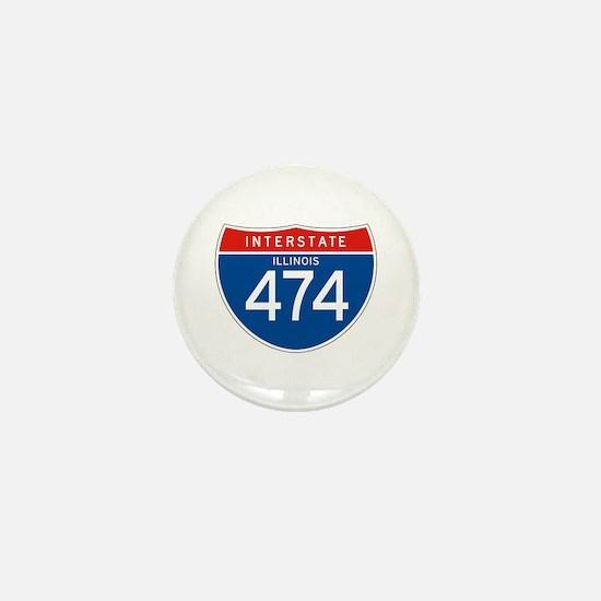 Interstate 474 - IL Mini Button