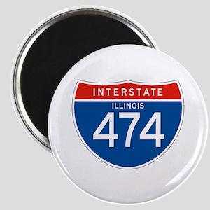 Interstate 474 - IL Magnet