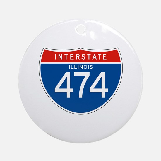 Interstate 474 - IL Ornament (Round)