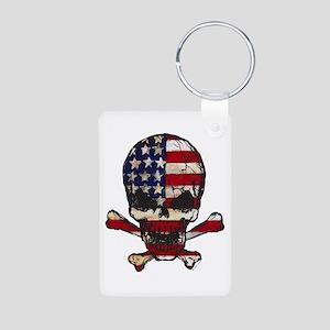 Flag-painted-Skull Keychains