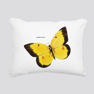 Orange Sulfur Butterfly Rectangular Canvas Pillow