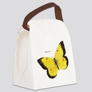 Orange Sulfur Butterfly Canvas Lunch Bag