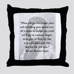 Stowe - Tight Place Throw Pillow