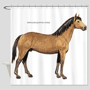 American Quarter Horse Shower Curtain