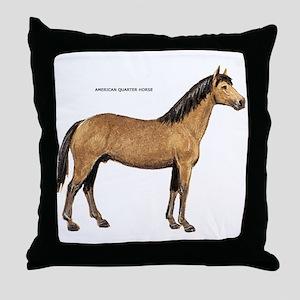 American Quarter Horse Throw Pillow