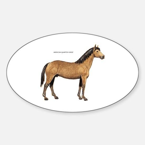 American Quarter Horse Sticker (Oval)
