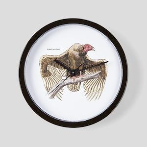 Turkey Vulture Bird Wall Clock