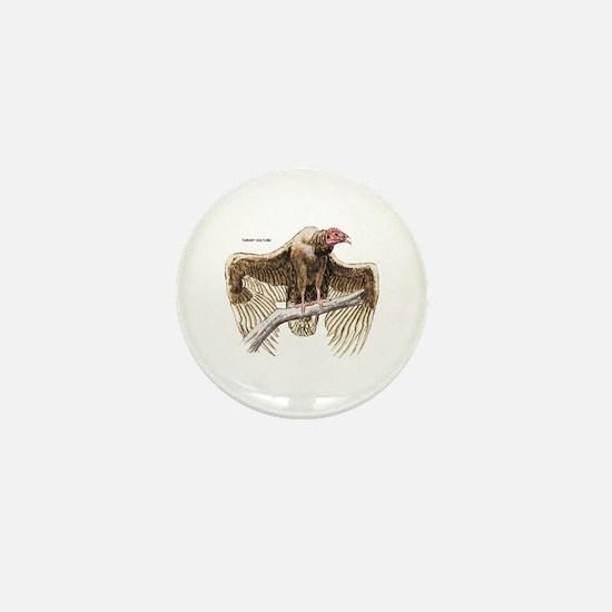 Turkey Vulture Bird Mini Button