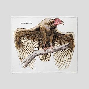 Turkey Vulture Bird Throw Blanket