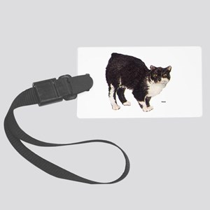 Manx Cat Large Luggage Tag