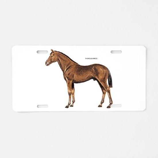 Thoroughbred Horse Aluminum License Plate