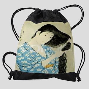 A-Half-Length-Portrait-of-a-Beauty- Drawstring Bag