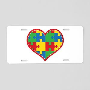 Autism Puzzle Heart Aluminum License Plate