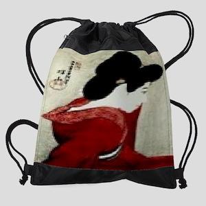 Facing-the-Mirror-Print-I10284260.j Drawstring Bag