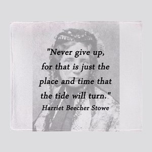 Stowe - Never Give Up Throw Blanket