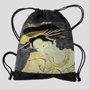 The-Courtesan-Kashiku-of-the-Tsuruy Drawstring Bag