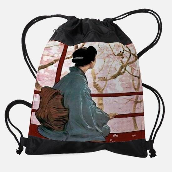 The-Diary-of-a-Geisha---The-Journal Drawstring Bag