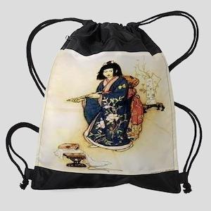 JAPANESE WOMEN 11.5X9 Drawstring Bag