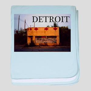 Detroit baby blanket