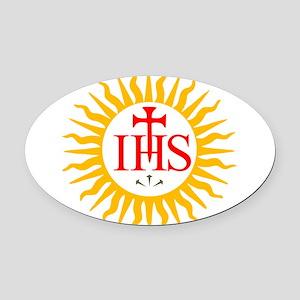 Jesuit Oval Car Magnet